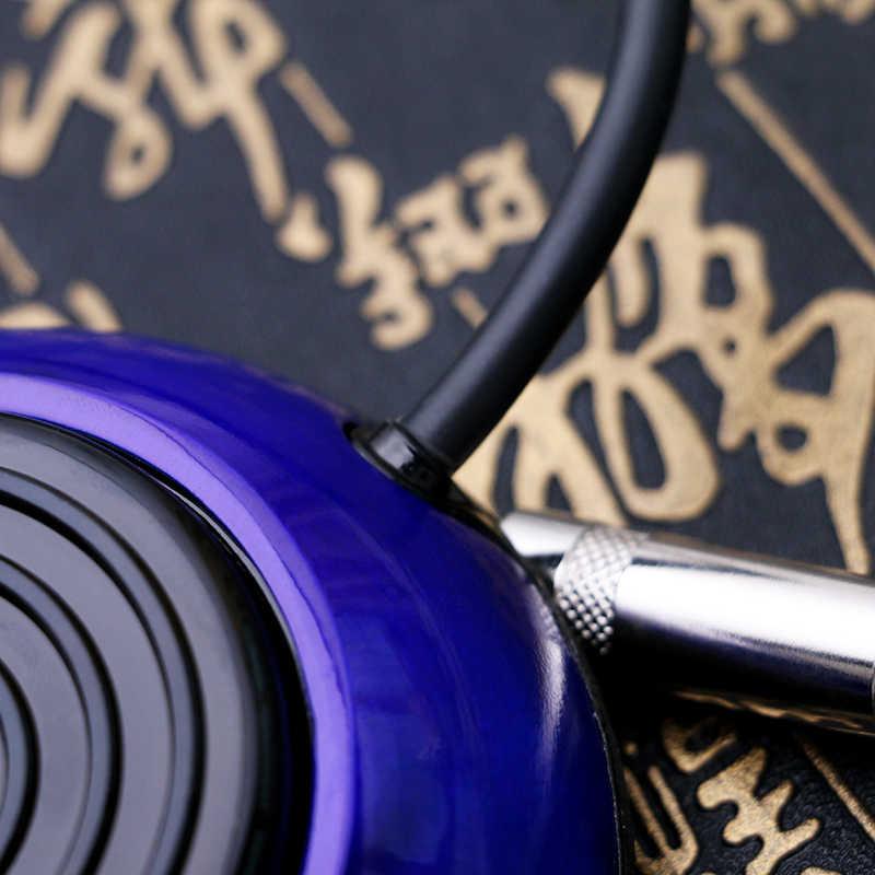 Wysokiej jakości okrągłe ze stali nierdzewnej przełącznik nożny pedał dostaw tatuaż trwały tatuaż przełącznik nożny z 4 kolory