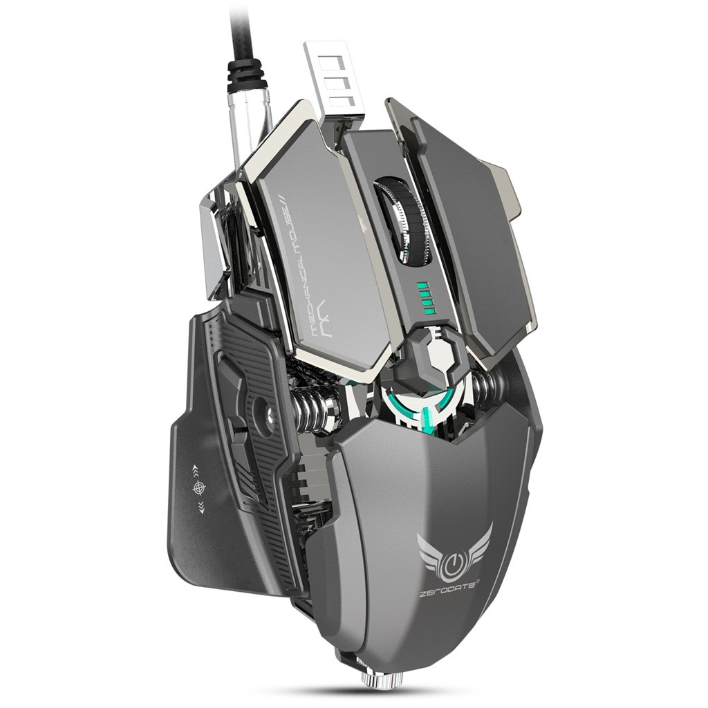 ZGPAX gaming mouse Professional 4000DPI Ergonomics Vertical Gaming Wired Mouse USB Wired 10 Programmable Buttons for PC Lapt z70