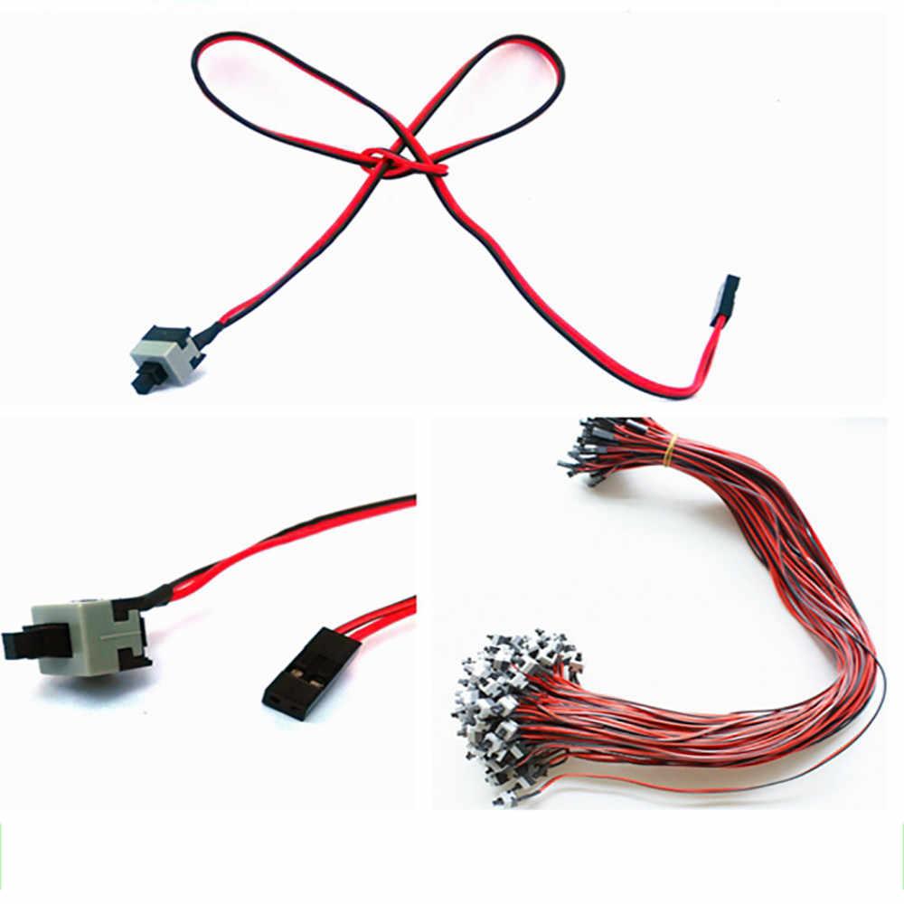 Kabel wymiana płyty głównej ATX włączanie/Off resetowania komputer stancjonarny przewód zasilający dla płyta główna z chwilową (SPST)