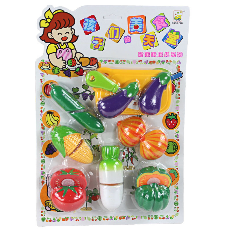 Big sale, Classic Toys, Pretend Play, kitchen cutting game, cut fruit, vegetables, cut, kitchen Pretend Play, free shipping