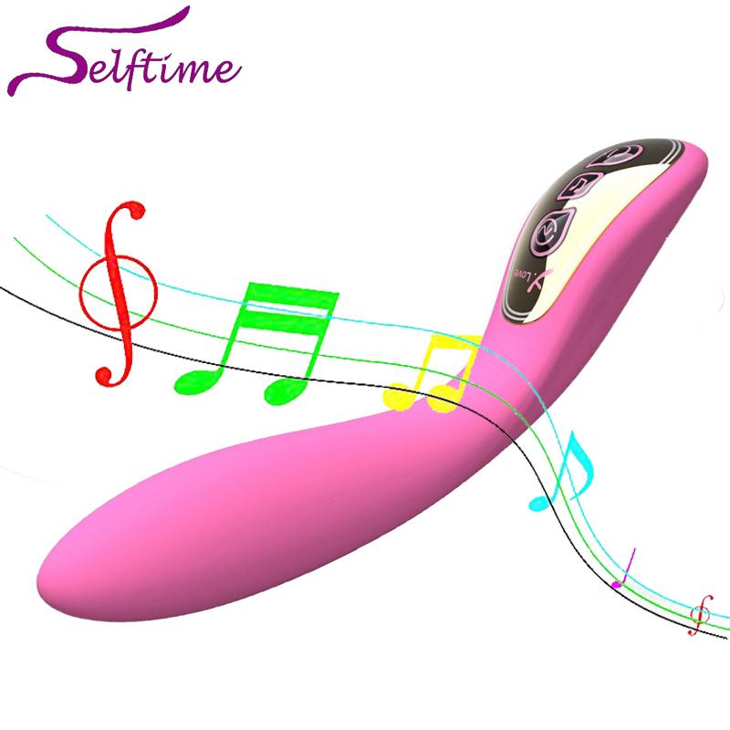 ФОТО Luxury Sound Control Flirting Vibrators for women, USB Rechargeable Sex Toys for Women ,Magic G-Spot Wand,Sex Products,GS040