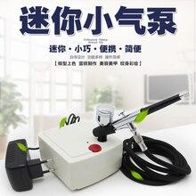 Mini 130 Action Airbrush Kit With Compressor Air Brush Spray Gun Pen For Paint Nails Modeller Cake Decorating