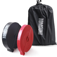 Resistance Bands Strength Training For Home Fitness Gymnastics Workout Black Red