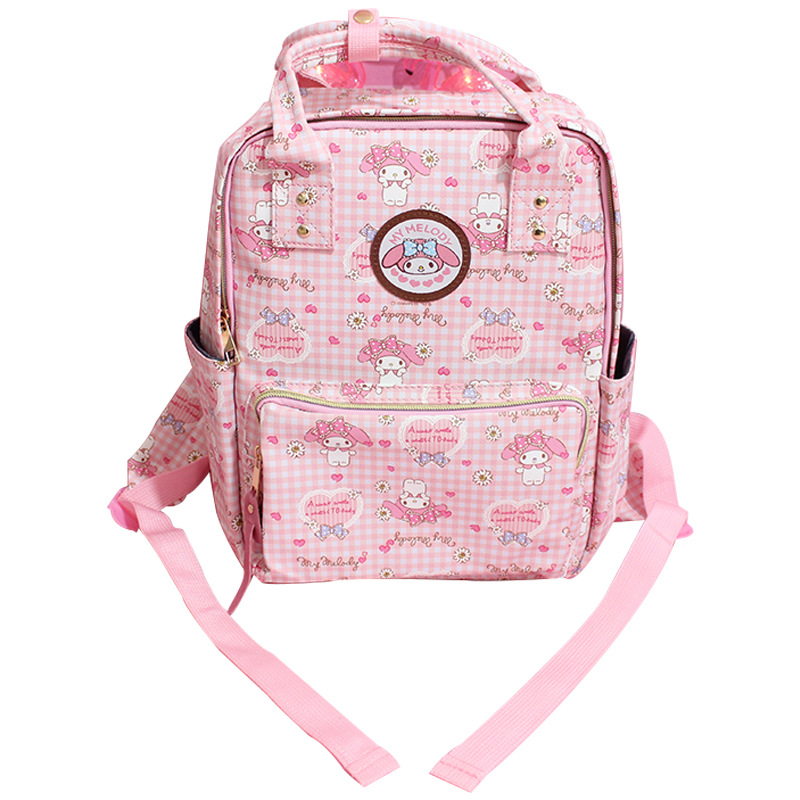 Cute Cartoon My Melody Plush Backpack Kawaii Children Schoolbag Pink Primary School Bags Melody Travel Bag For Girls Gifts