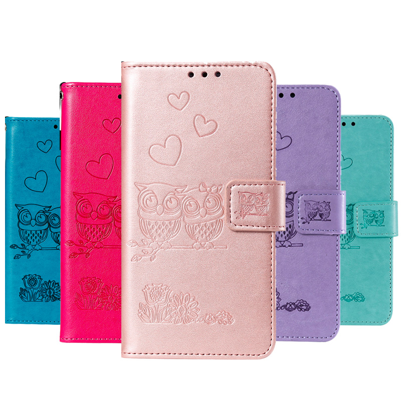 2019 New Owl Flip Wallet Case For Sony Xperia XZ1 XA2 XA1 L1 Z5 XZ XA Cover For Sony XZ1 XA2 XA1 L1 Z5 XZ XA Leather Bag Pouch in Wallet Cases from Cellphones Telecommunications
