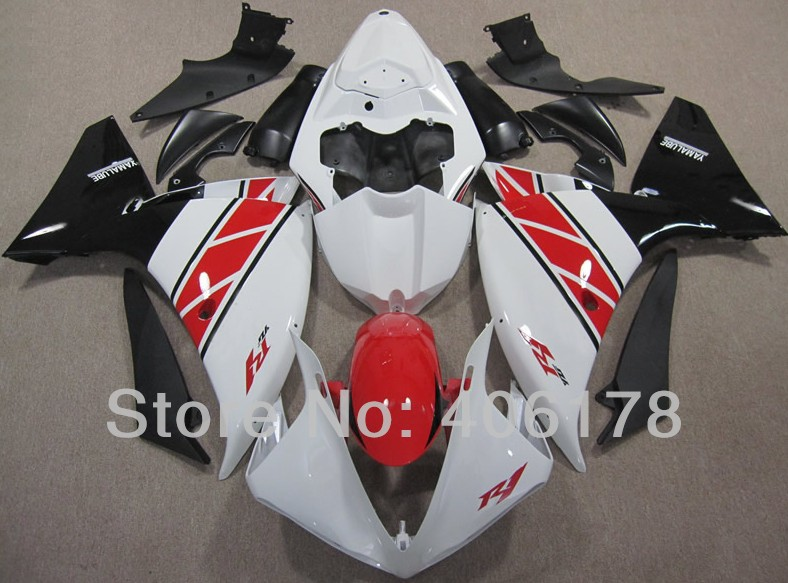 Hot Sales,OEM R1 09 10 11 fairing For Yamaha Yzf R1 2009 2010 2011 Race Bike White and Red Fairings (Injection molding) hot sales yzf600 r6 08 14 set for yamaha r6 fairing kit 2008 2014 red and white bodywork fairings injection molding