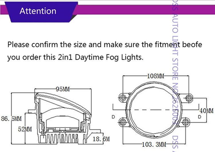 LED Fog Light with Daytime Running Light DRL Front Fog Lamps for Toyota RAV4 Camry Solara Yaris Avalon Highlander Hbbrid Matrix Corolla Venza Prius (4)