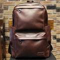 2016 New Oil Wax PU Leather Backpacks Western Style Mix Cow Leather Bag For Men Travel Mochila Zip Casual Backpack hot