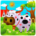 24Different Wodden style puzzles Different animal patterns jigsaw for kid's education and learning