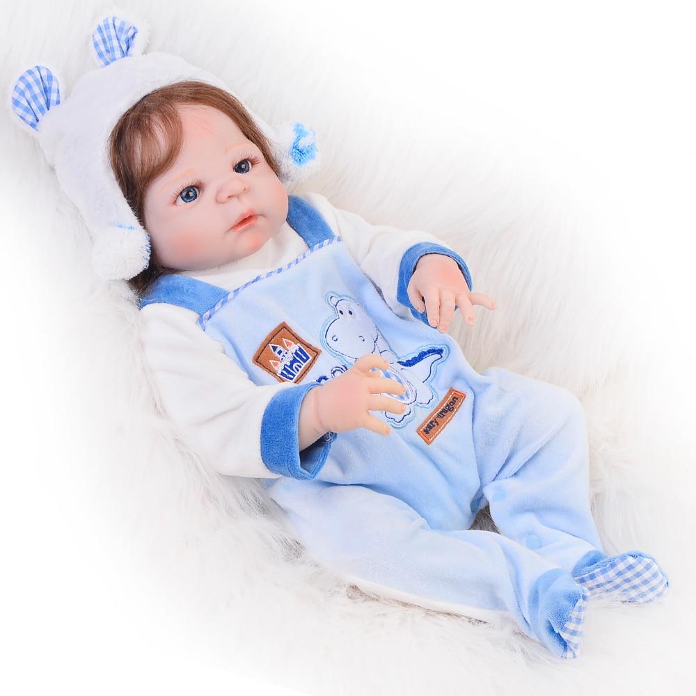 KEIUMI 23 ''57 centimetri Realistica Reborn Doll Pieno Del Corpo Del Vinile Del Silicone Realistico Baby Doll Giocattolo Per Bambino Ragazzo Compagno di Giochi regalo di Giorno dei bambini