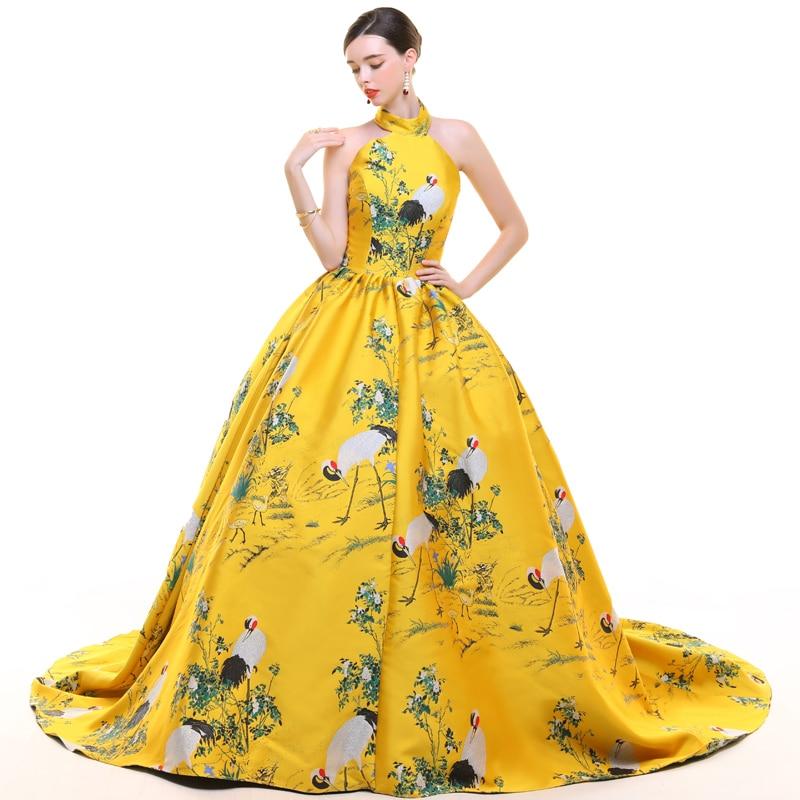 CEEWHY dos ouvert turquie robe de soirée musulmane arabie saoudite imprimer Floral robe formelle longues robes de soirée Vestido de Festa Longo - 2