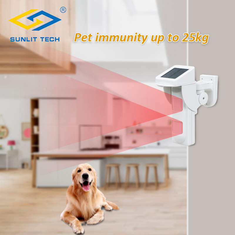 Outdoor Wireless Dual PIR Solar Power 433MHz Motion Sensor Detector Pet Immune Intelligent Sensor For Home Security Alarm System yobang security 433mhz anti pet 25kg waterproof wireless solar outdoor pir motion sensor detector for home security alarm system