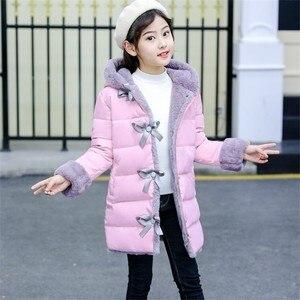 Image 3 - Blouson dhiver en fourrure Imitation pour filles, parka chaude, vêtements pour enfants, Plus velours, à la mode, nouvelle collection 2020