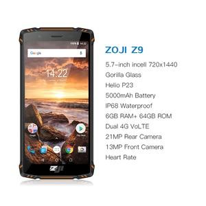 "Image 2 - HOMTOM ZOJI Z9 IP68 עמיד למים Helio P23 אנדרואיד 8.1 אוקטה core Smartphone 5.7 ""6 GB 64 GB 5500 mAh פנים מזהה טביעת אצבע טלפון נייד"