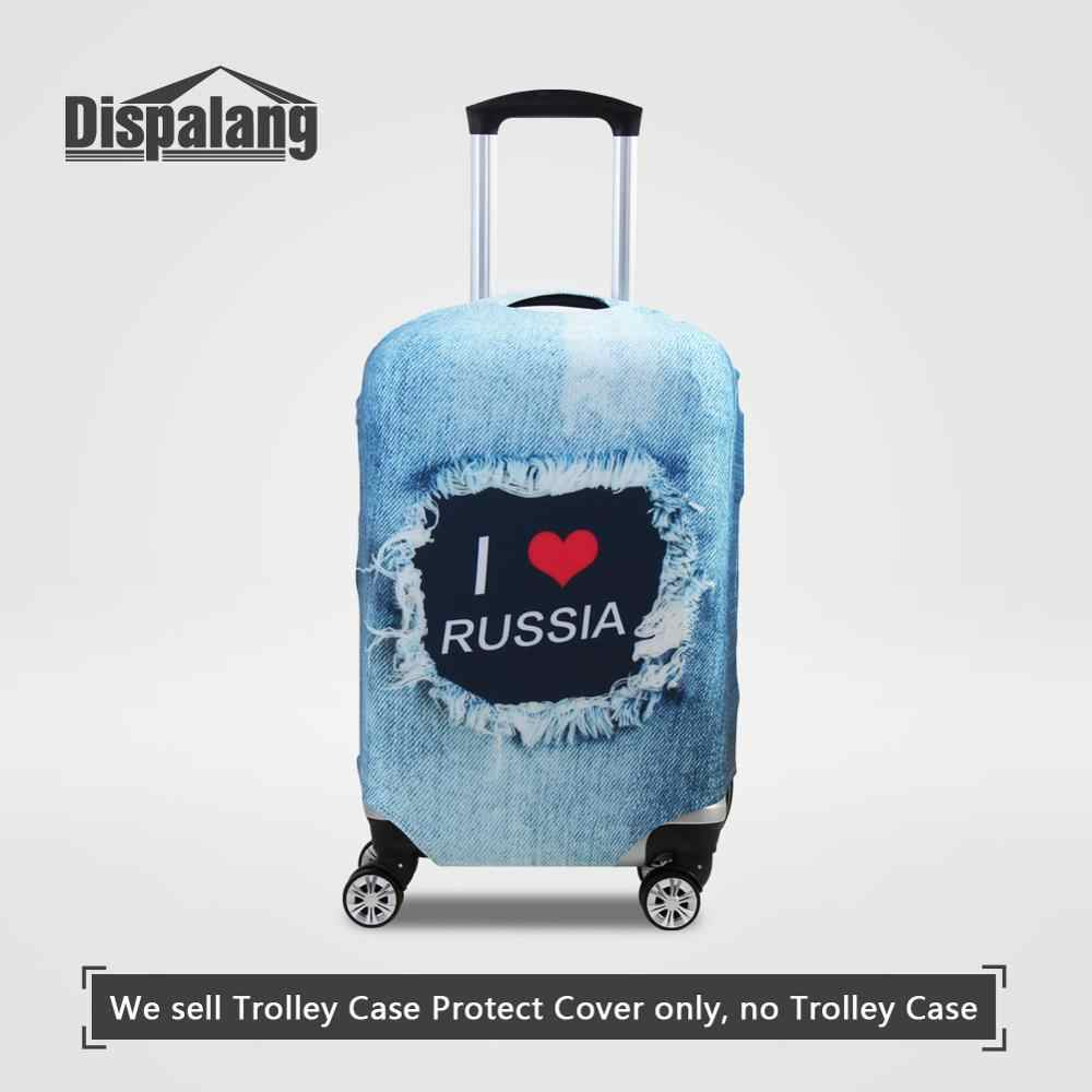 Travel Luggage Protective Covers With Zipper For 18-30 Inch Trolley Case National Flag Print Waterproof Suitcase Dust Rain Cover
