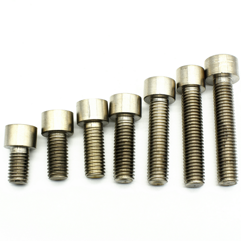 <font><b>Titanium</b></font> Bolt <font><b>M10</b></font> x15-100mm Ti Bolt Column Head Hexagonal Socket Drive Original Grey Color Gr.2 <font><b>Titanium</b></font> <font><b>Screw</b></font> DIN912 6pcs image