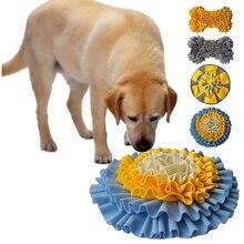 Домашние животные подстилка для тренировки нюха Домашние животные Форма кость собаки Обучающие игрушки моющиеся тренировочные одеяла коврик для корма Piecing многоцветные игрушки для собак