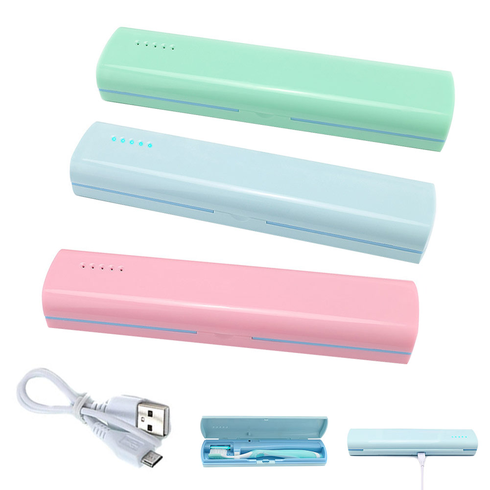 Portable Toothbrush Sterilizer Tool Box Automatic Disinfection Travel Camping Tooth Brush Holder UV Sterilization Case NShopping image