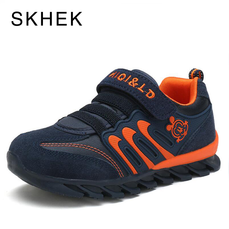 SKHEK 2018 Spring Autumn New Breathable Children Shoes Toddler Boys Kids Sneakers Brand Kids Genuine Leather Casual Shoes kids shoes 2018 genuine leather spring and autumn zipper rubber kids boys shoes heelys zebra pure color soft 1 6 year girl shoes