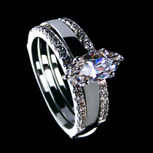 Luxurious Jewelry 2ct Nscd Synthetic Diamond Marquise Cut Engagement