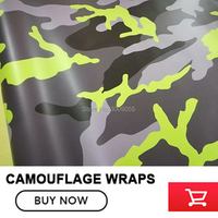 fluorescence Camo Vinyl Film Camouflage Vinyl Wrapping For Car Sticker Bike Console Computer Laptop Skin Scooter Motorcycle