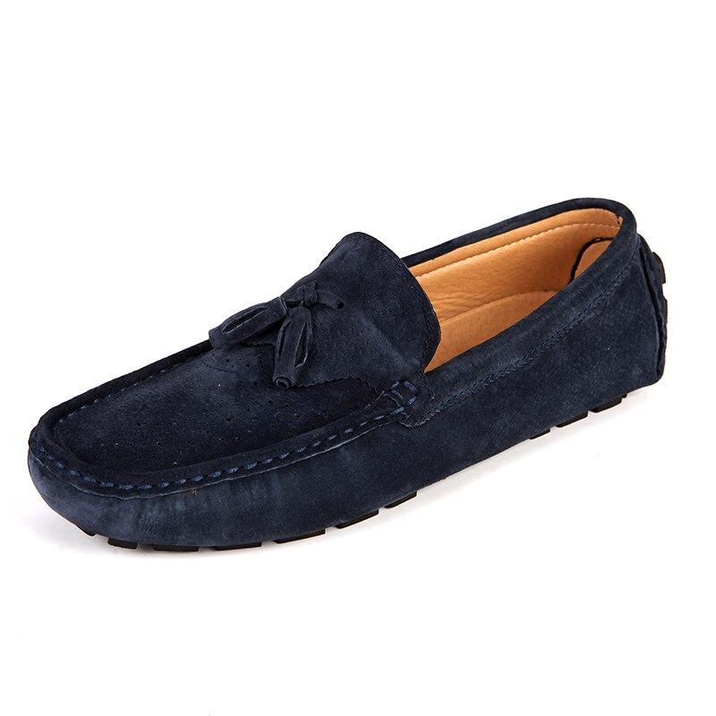 Sapatos blue Drving Respirável Mocassim Homens De Gommino Mocassins Black Cinza gray Casuais Preto khaki Camurça Azul Franja Cáqui npqHYwZp