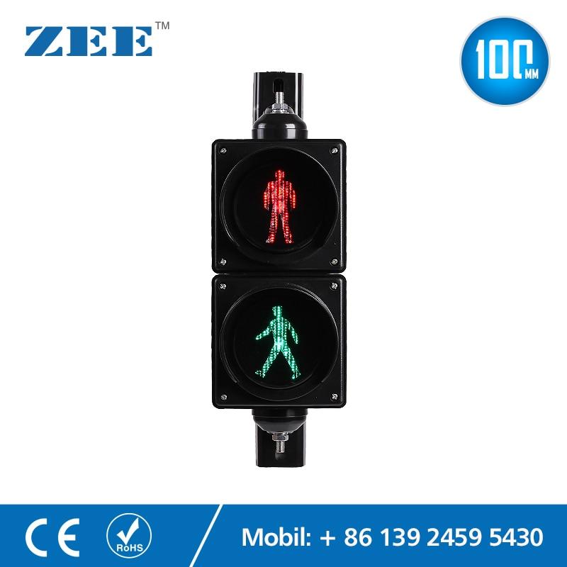 4 Inches 100mm LED Traffic Light Pedestrian Traffic Signal Light Red Green Man Signals Pedestrians Light Lamp Children Lights
