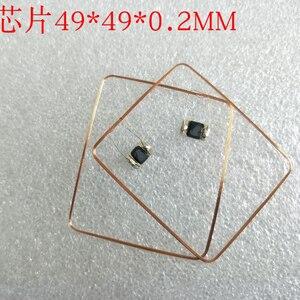 Image 5 - 13.56MHz HF COB et antenne IC bobine de soudage domestique Fudan F08 puce RFID étiquettes 49*49*0.3mm 14443A