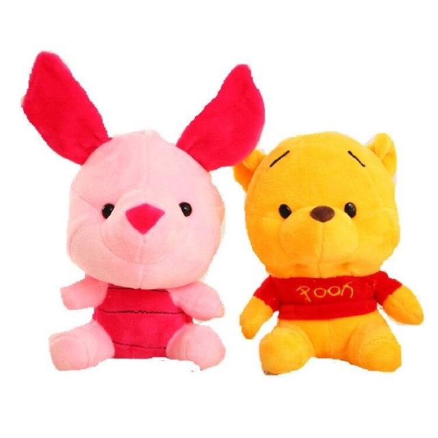 Disney Plush Animal Plush Mickey Mouse Minnie Winnie the Pooh Doll Lilo and Piggy Pig Pendant Boy Girl Birthday Gift Christmas
