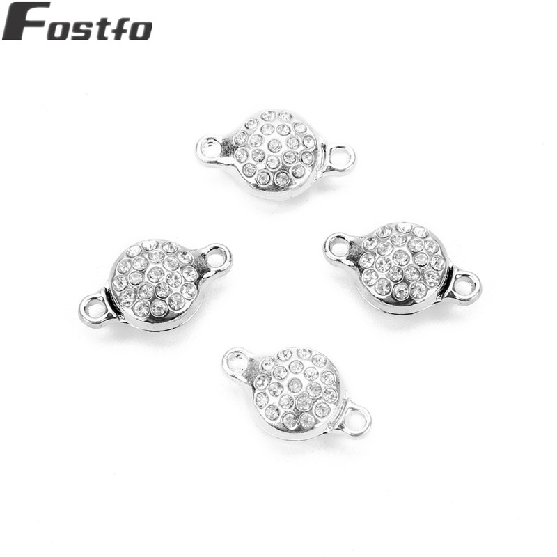 Fostfo 5pcs/lot Crystal Strong Magnetic Clasps Fit Necklace Bracelet Metal End Clasps Connectors For Diy Jewelry Making Finding