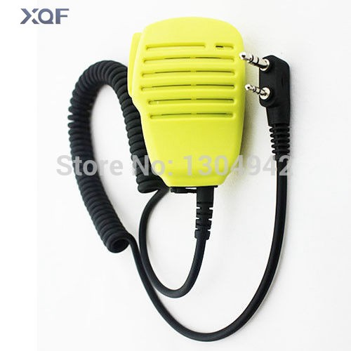 Yellow Speaker Mic Microphone For BAOFENG UV-5R 5RA/B/C/D/E UV-3R+ Kenwood Walkie Talkie With Free Shipping