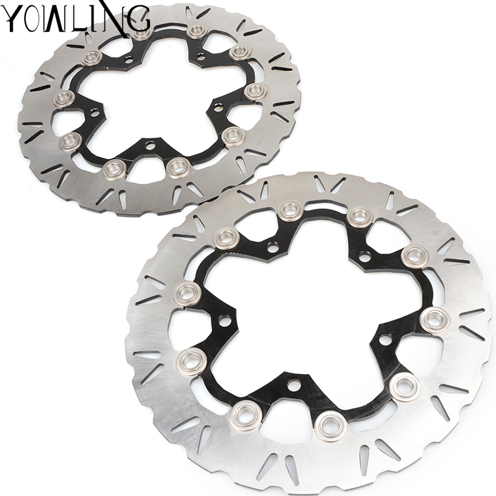 One Pair CNC High quality Motorcycle Front Floating Brake Disc Rotor for SUZUKI GSX1300 B-KING ABS/NON 2008-2009 K8 K9 one pair cnc high quality motorcycle front floating brake disc rotor for suzuki gsf1250 bandit abs non 2007 2008 2009 gsf1200 k6