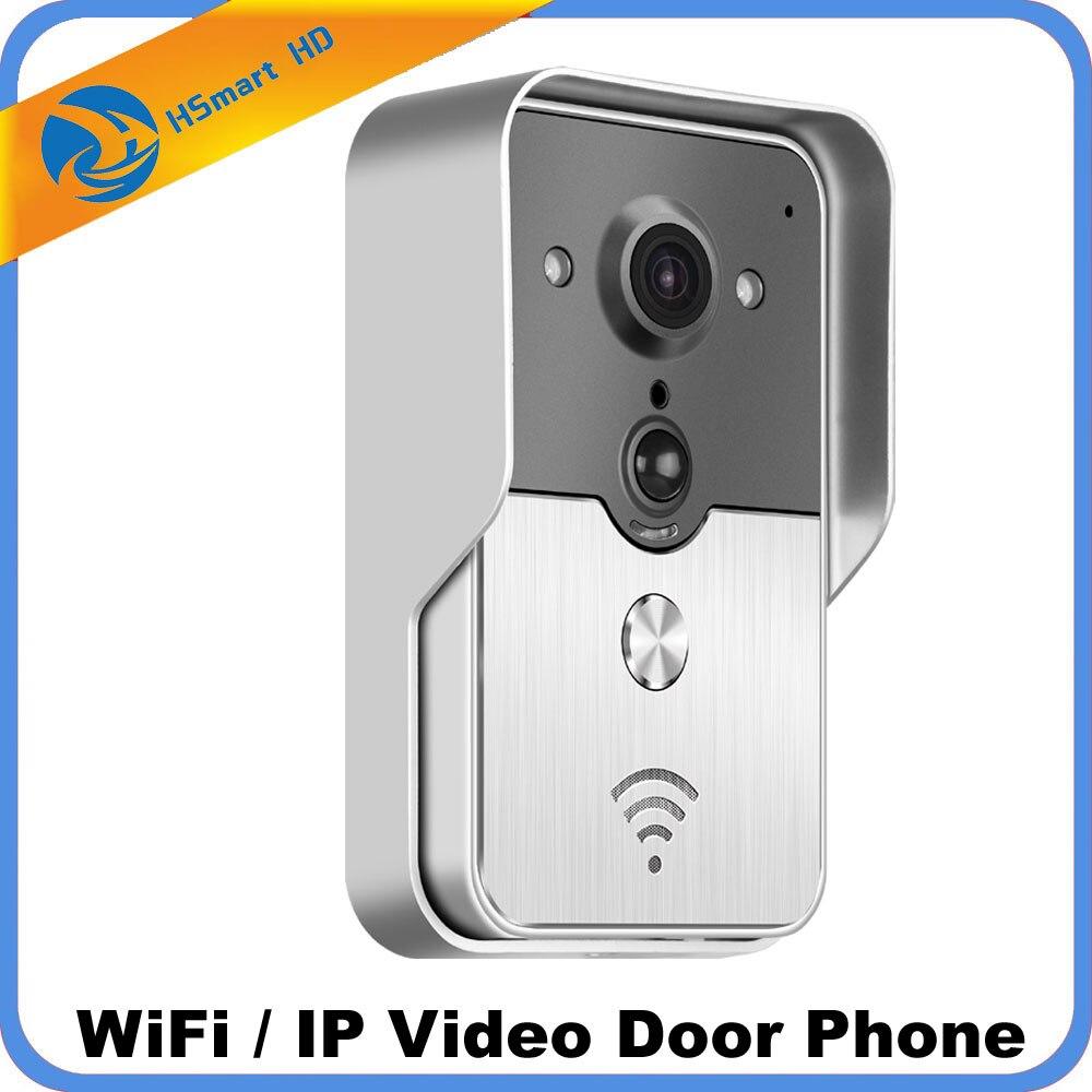 Wifi Vidéo Porte Téléphone Sans Fil De Bell Intercom Soutien SD Carte POE alimentation Wifi 3g IOS Android pour iPad smart Phone Tablet