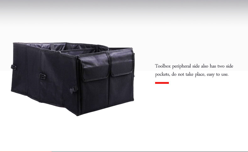 Auto Supplies Car Back Folding Storage Box Multi-Use Tools Organizer Car Portable Storage Bags Black 12