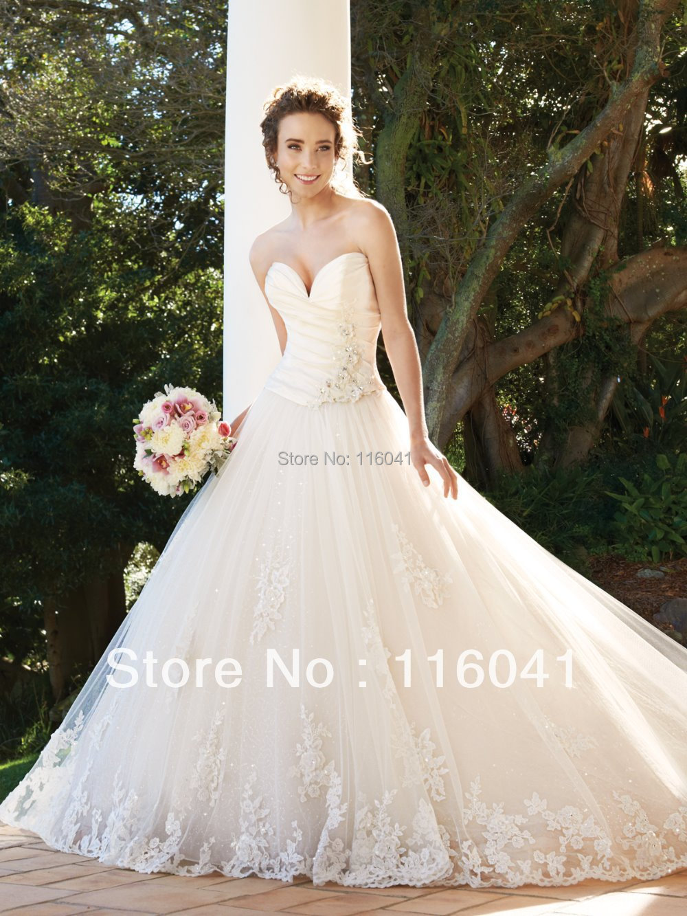 2016 All About font b Wedding b font New Style Princess Strapless Sweetheart Corset Tulle Lace
