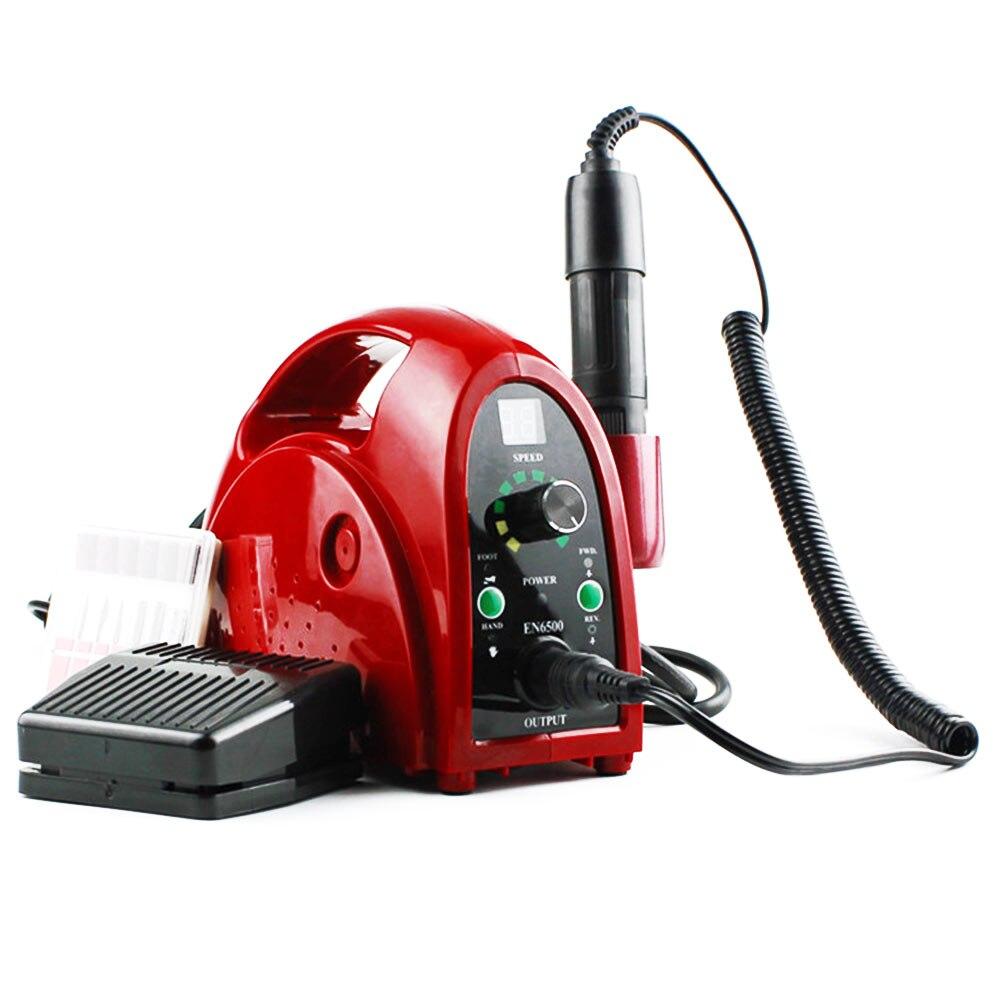 35000 rpm Électrique Nail Fraisage Machine Manucure Nail Forets Fraises Nail Art Fichier Outils 65 w Appareil pour manucure