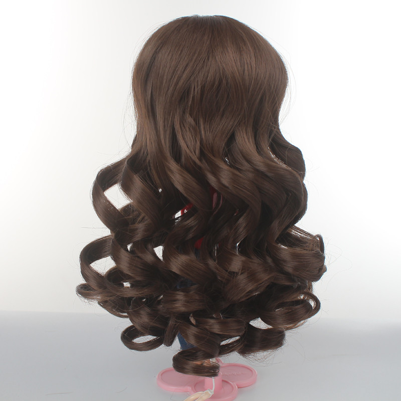 White Green Brown Khaki Doll Wigs Synthetic Fiber Long Wave Hair for Blyth Doll with 9inch Head Circumference in Dolls Accessories from Toys Hobbies