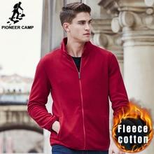 Pioneer Лагерь осень зима теплая толстовки мужчины марка одежды твердые густой шерсти балахон мужчины высочайшее качество причинно мода 622202(China (Mainland))