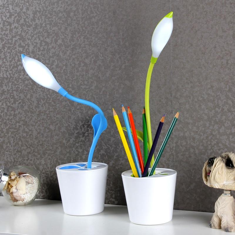Creative USB flower Petal Desk Lamp USB Charging Dimming Study Eye Protect Lamp VS093 T40