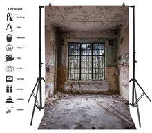 Laeacco – arrière-plan de photographie pour Studio Photo, mur Grunge désert, porte de fenêtre intérieure de la vieille maison
