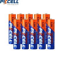 10 шт. PKCELL AAA батареи LR03 щелочной Батарея 1,5 V E92 AM4 MN2400 3A щелочные батареи для пульта дистанционного Управление и зубные щетки