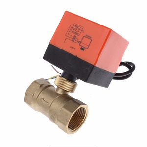 Image 4 - DN15/DN20/DN25 Electric Motorized Brass Ball Valve DN20 AC 220V 2 Way 3 Wire with Actuator