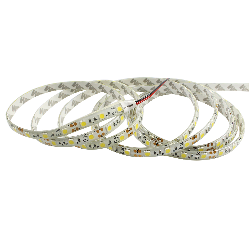 LED Strip 5050 DC12V 60LEDs/m 5m/lot IP65 Waterproof Flexible LED tape Light Nature white 4000K 5050 LED Strip high brightness