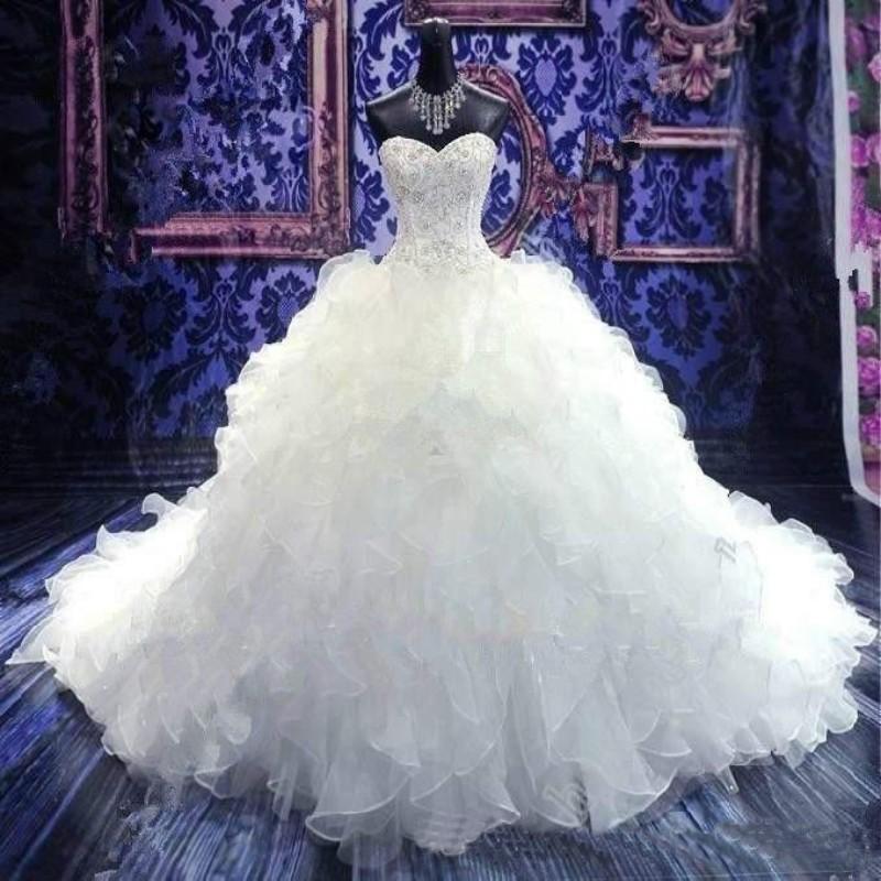 ms vestidos de boda elegantes la capilla de tren vestido de boda blanco vernassa bordado