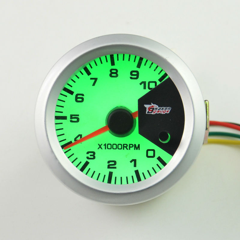 US $17 85 |52MM Self test function Stepper motor 7 Color backlight Car  Tachometer Gauge 0 10000 RPM Free shipping-in Tachometers from Automobiles  &