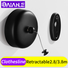 Clothesline Indoor Outdoor Laundry Stainless Steel Retractable Dryer Hanger Wall Mounted Clothes Drying Rack Rope