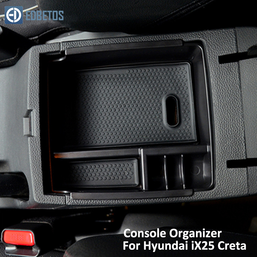 Image 3 - IX25 Creta Armrest Storage Box for Hyundai IX25 Creta Central Console Organizer Stowing Tidying Holder Tray-in Stowing Tidying from Automobiles & Motorcycles