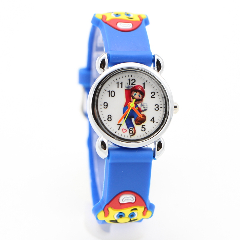 New 3D Cartoon Super mario doll kids Watch Children Kids Girls Boys Students Quartz Wristwatches supermario