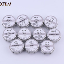 XFKM SS316L Electronic Cigarette DIY Prebuilt Coil Heating Wire Alien Tiger Clapton Coil For Vapor RDA Atomizer Tank 10pcs/box e xy flat coil wire 120mm heating wire electronic cigarette 10pcs in a tube for vapor vape rda rta premade resistance wire