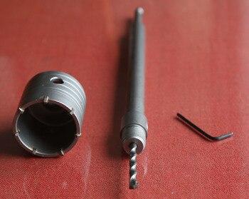 Nueva oferta de 3 unids/set pared VI kit de herramienta de 1 PC pared agujero VI 70*72 * M22 con 1 pc SDS-PLUS varilla de extensión de 330mm with1pc central Taladro
